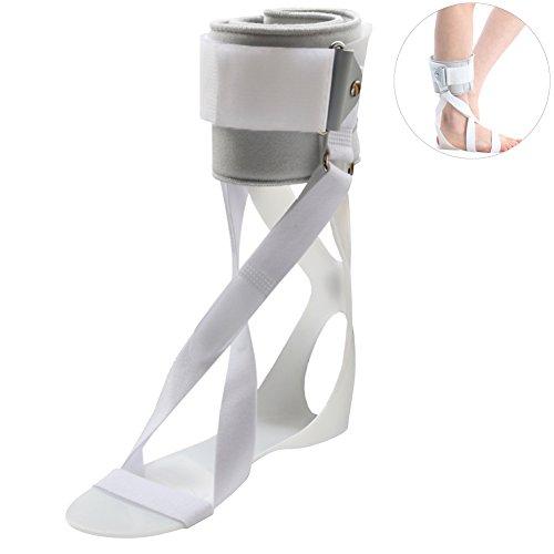 Exttlliy Plastic Foot Drop Orthosis Postural Correction Brace Splint Comfortable Foot Support Splint (Left, Large)