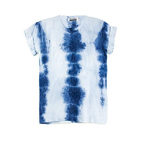 Indigo Tie Dye Unisex T-Shirt Pattern Shirt short Sleeve Plus Size S, M, L, XL, XXL, XXXL ()