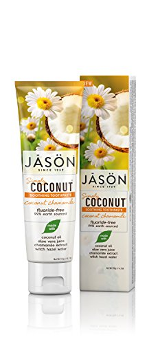 JASON Simply Coconut Soothing Toothpaste, Coconut Chamomile, 4.2 Ounce Tube