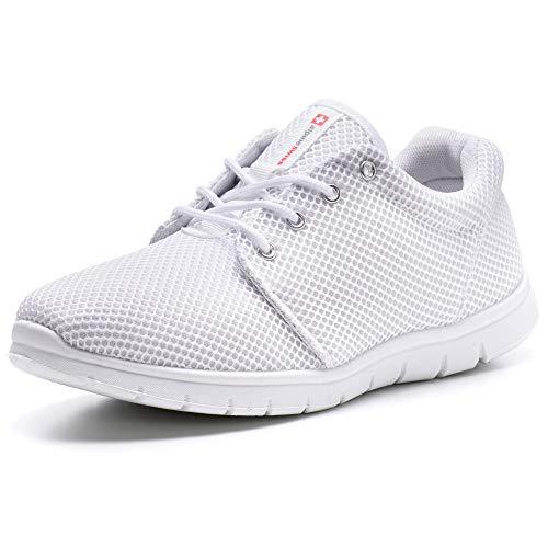 (alpine swiss Men's Kilian Kilian Fashion Sneakers, White,)