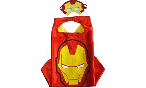 Iron Man Costume Kids Cheap Durable Satin Cape Felt Mask Amazing Cape Boys Girls 100 Percent