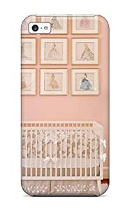 High-quality Durable Protection Case For Iphone 5c(romantic Peach Girl8217s Nursery With Crib 038 Barbie-themed Art On Wall)