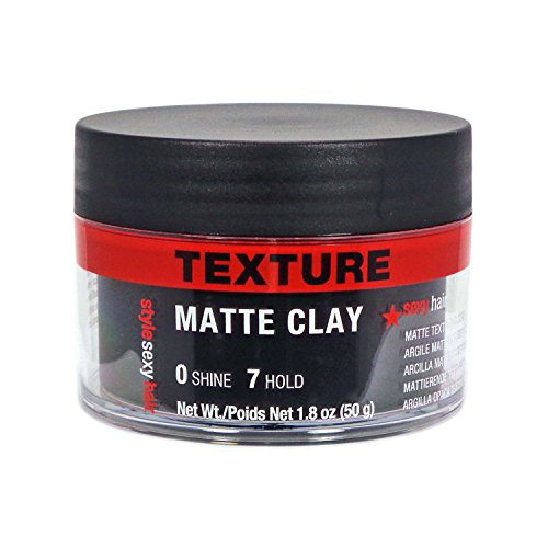 Sexy Hair Sysh Texture Matte Clay Pomade, 1.8 (English Clay)