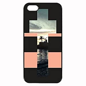 SEA WITHIN CROSS Pattern Image Protective iphone 4 / iPhone 4S Case Cover Hard Plastic Case For iPhone 5c