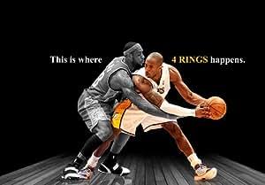 Amazon.com : Kobe Bryant vs Lebron James Spotlight Poster