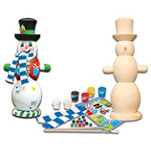 MasterPieces Works of Ahhh Winter Snowman Wood Paint Kit