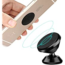 IDAStore Universal Magnetic Phone Mount Car Holder Kit | 360° Rotation, Lightweight, Sturdy, Compatible With All Smartphones & iPhones | Drive Safely, Enjoy Wide Viewing Angle & Facilitate Traveling