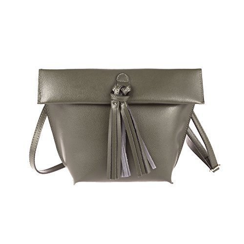 Obc Only-beautiful-couture - Leather Shoulder Bag For Women Taupe / Schlamm