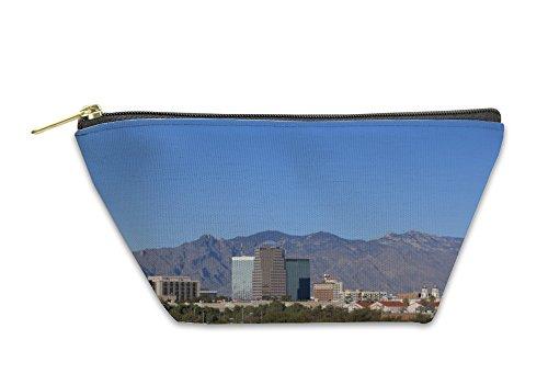 Gear New Accessory Zipper Pouch, Cityscape Of Tucson Downtown Against Mountain Range Arizona, Small, - Glasses Tucson Az