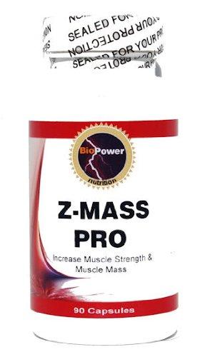 Z-PRO MASS # Augmentation de la croissance du tissu musculaire - ZMA - 90 Capsules - Nutrition BioPower