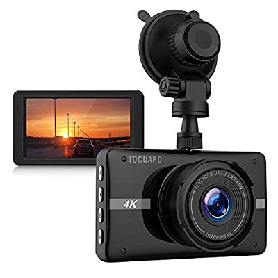 TOGUARD 4K Dash Cam Ultra HD Car Dash Camera 3'' LCD 170° Wide Angle Dashboard Camera Recorder with Night Vision, 24Hs Parking Monitor, G-Sensor, Time Lapse: Car Electronics