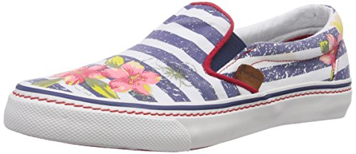Pepe Jeans Alford Jamaica, Women's Low-Top Sneakers Blue (Naval Blue)