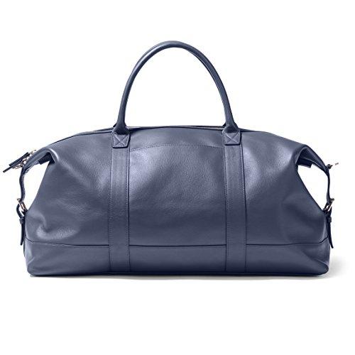 Kessler Medium Duffle - Full Grain Leather Leather - Navy (blue) by Leatherology