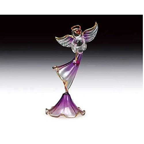 - Everspring Import Company Purple Glass Angel with Heart Figurine