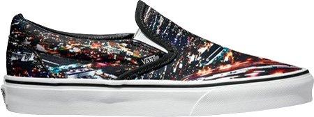 Vans Classic Slip on - Zapatillas para mujer, color black multi, talla 40.5