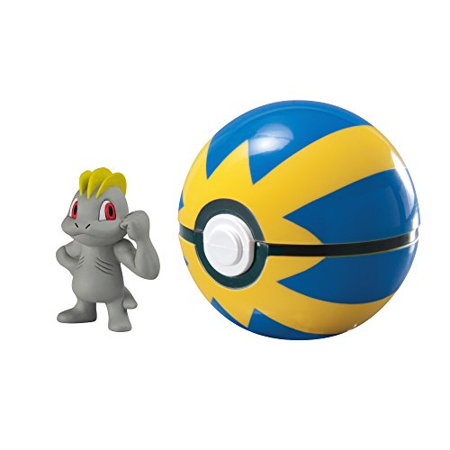 (Pokémon Clip And Carry Poké Ball, Machop And Quick Ball)