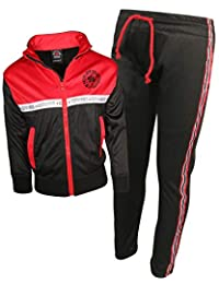 Enyce Boys 2 Piece Performance Tracksuit Set with Zip-Up Hoodie and Jog Pants