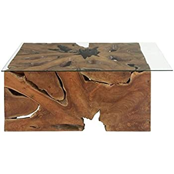 Amazon.com: Uttermost 25519 Driftwood Glass Top Cocktail ...