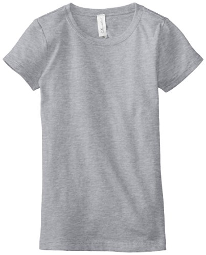 Clementine Big Girls' Everyday T-Shirt, Heather Grey, X-Large(14-16)
