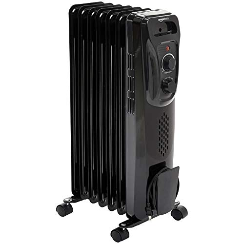AmazonBasics Portable Radiator Heater, Black
