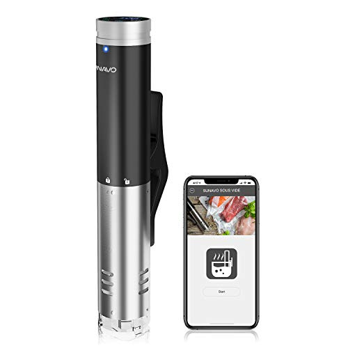SUNAVO Sous Vide Cooker,WIFI Immersion Circulator Machine 1000W,Thermal Immersion Circulator with Accurate Temperature & Timer Setting,Digital Display Stainless Steel SV-20 by sunavo (Image #9)