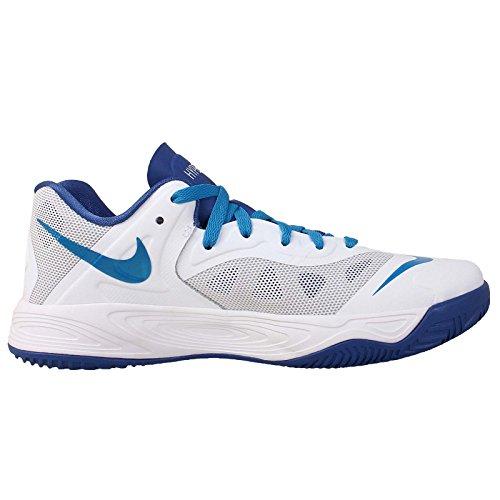 Nike Mens Hyperfuse Low, White / Strata Gray-game Royal, 8 M Us