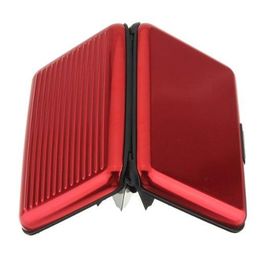 yuhemii Business ID Kreditkarten Inhaber Brieftasche Aluminium Metall Fall Box Einheitsgröße gelb rot