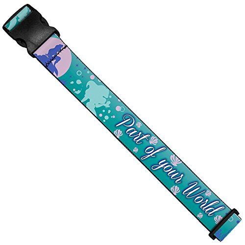 Luggage Strap - Little Mermaid Silhouette Scenes PART OF YOUR WORLD Blues