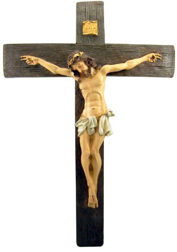 Crucifix Christ Jesus (Crucifixion of Jesus Christ HUGE Home Chapel Decoration 21 Inch Crucifix Wall Cross)