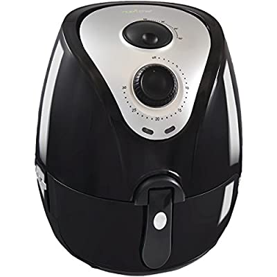 NutriChef Electric Air Fryer and Multi Cooker 1400 Watt, Better Then Deep Fry, Healthy Food For Diet ,Low Fat With Rapid Air Circulation System, Detachable Basket , Black (PKAIRFR22)