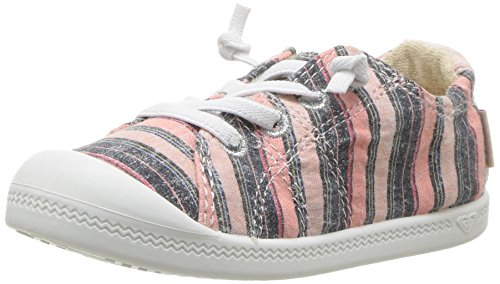 - Roxy Girls' TW Bayshore Sneaker, Pink Stripe, 10 M US Toddler