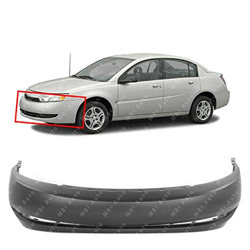 (MBI AUTO - Primered, Front Bumper Cover Fascia for 2003 2004 Saturn Ion Sedan 4 Door 03 04, GM1000689)