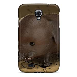 Special KKFAN Skin Case Cover For Galaxy S4, Popular Wee Elephant Thingy Phone Case