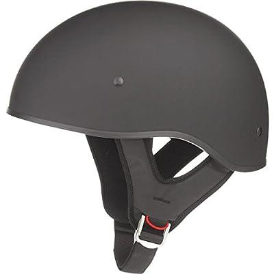 GMAX, 72-5631S, Adult GM65 Naked Half Motorcycle Helmet - Flat Black, S