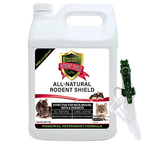 Natural Armor Peppermint Repellent for Mice/Mouse, Rats & Rodents. Natural Spray for Indoor & Outdoor Use Rodent Shield…