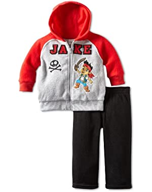 Disney Baby Boys' 2 Piece Jake Fleece Set