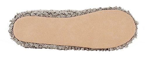 MIXIN Women's Ballerina Velveteen Soft Sole Indoor Slippers Grey US Size 8 Photo #5