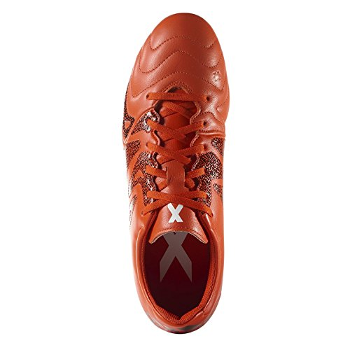 Adidas Performance X 15.3 FG/AG J LEAT Chaussures de Football Enfant Cuir Orange