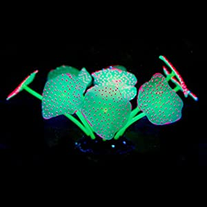 LANDUM 11-Leaf Silicone Artificial Coral Plants Ornament Decors for Fish Tank Aquarium 40