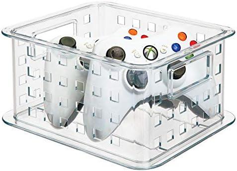mDesign Caja plástico apilable para DVDs Soporte para CD ...