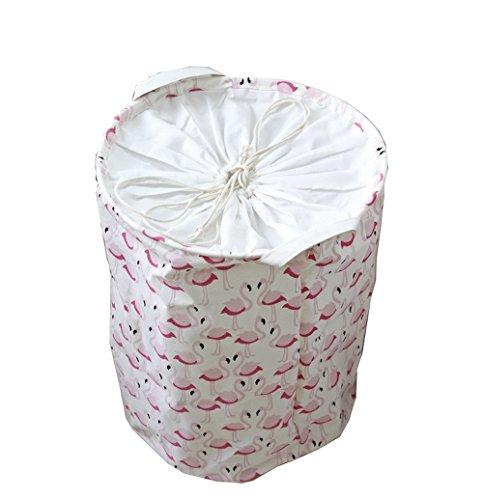 Hooshion Folding Canvas Cotton Laundry Hamper/Basket Stor...