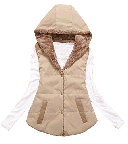 波ファブリック補足雲の花 女性のルーズベストジャケットコットンジャケット大きな毛皮の襟長い段落の綿