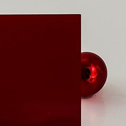 PLEXIGLAS/® 3 mm dunkelrot 3H55 GT blickdicht 6/% Lichtdurchl/ässigkeit Ma/ße: 50x25x0,3 cm edles rot