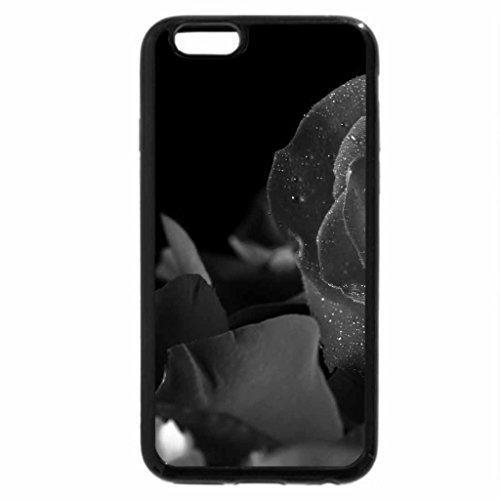 iPhone 6S Plus Case, iPhone 6 Plus Case (Black & White) - Rose and petals