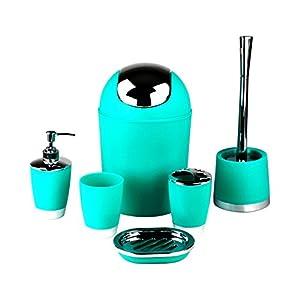 GMMH – Juego de 6accesorios para el cuarto de baño, dispensador de jabón, escobilla para el inodoro 41YbDqC8HVL