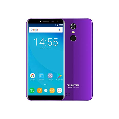 Cell Phones Unlocked, Oukitel C8 Unlocked Smartphone Dual Sim 5.5'' Infinity Display 18:9-2GB+16GB 13MP Camera 4G Phone at& T Mobile Non Contract (Purple)