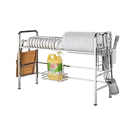 ZWS@ Cocina de acero inoxidable 304 Estantería: acero ...