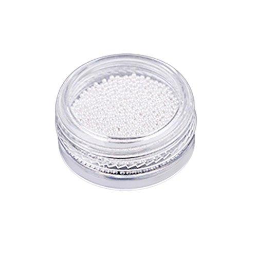 Nail Art,Putars Fashion Gold And Silver Nail Glitter Nail Beads Do Not Fade Metallic Decorat (Silver) for $<!--$1.39-->