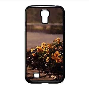 Orange Pansies Watercolor style Cover Samsung Galaxy S4 I9500 Case (Flowers Watercolor style Cover Samsung Galaxy S4 I9500 Case)