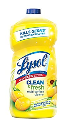 Lysol Clean & Fresh Multi-Surface Cleaner, Sparkling Lemon and Sunflower Essence